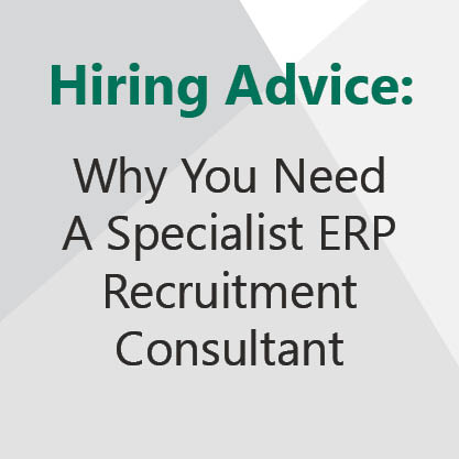 Why you need a specialist ERP recruitment expert.