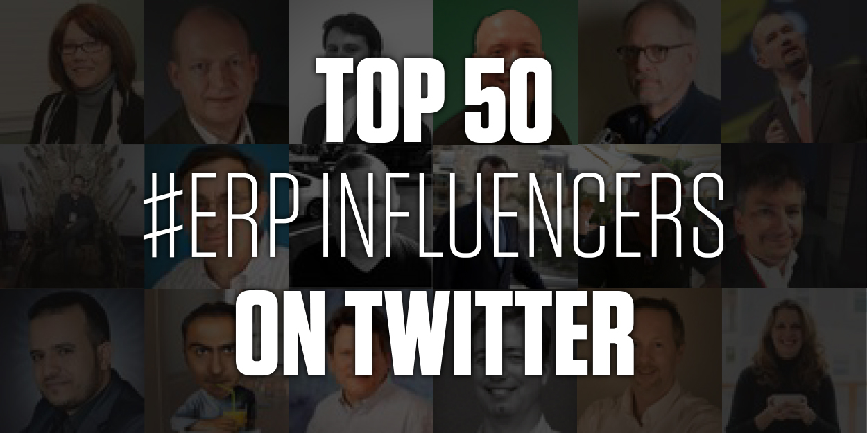 Top 50 ERP Influencers on Twitter - Header Image